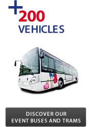 Discover our event Buses and Trams